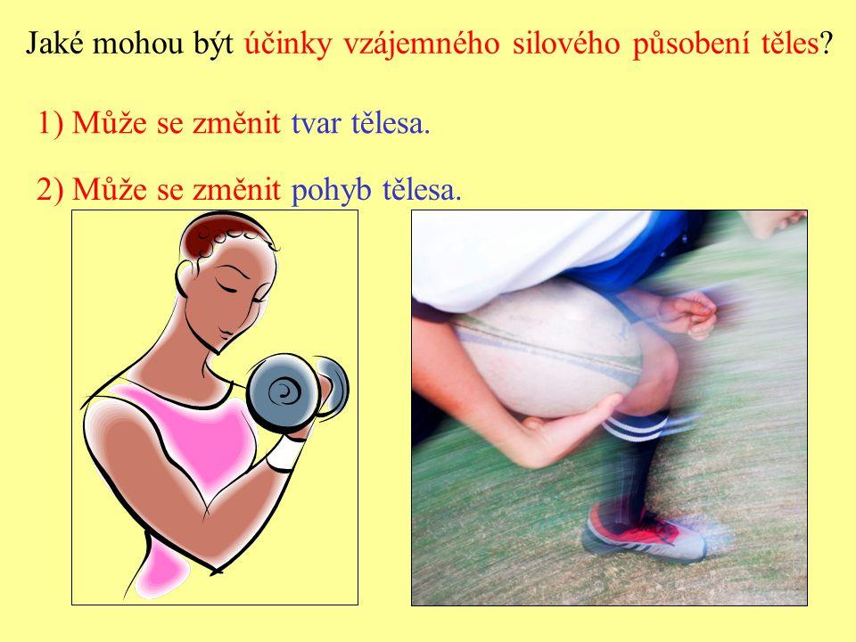 Jaké mohou být účinky vzájemného silového působení těles