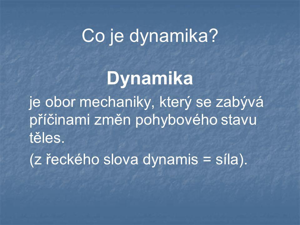 Co je dynamika Dynamika