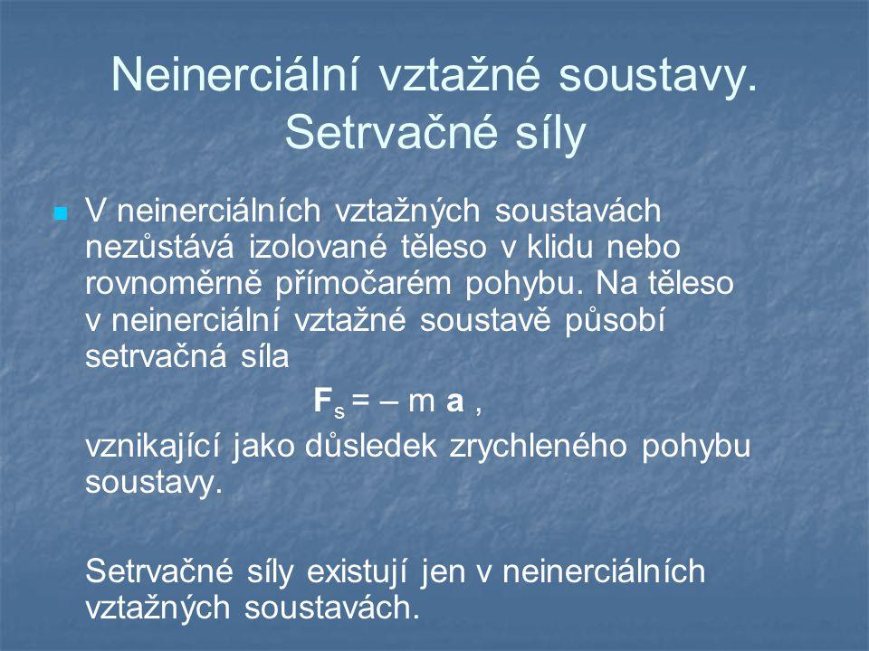 Neinerciální vztažné soustavy. Setrvačné síly