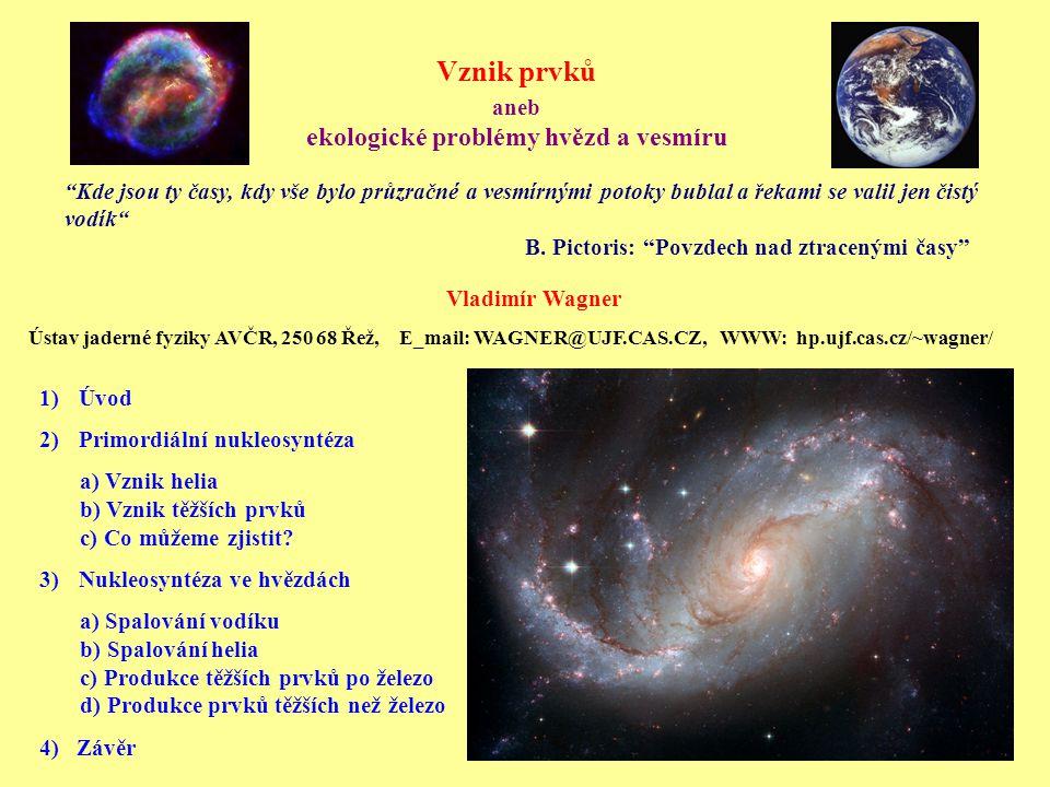 Vznik prvků aneb ekologické problémy hvězd a vesmíru