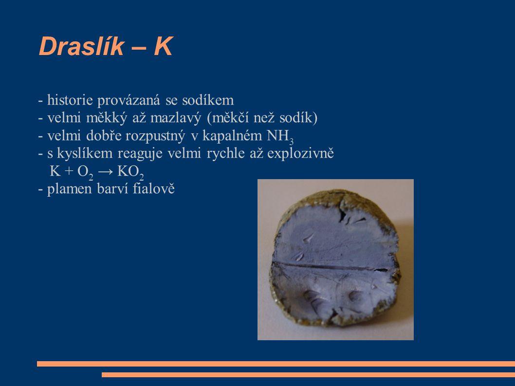 Draslík – K - historie provázaná se sodíkem