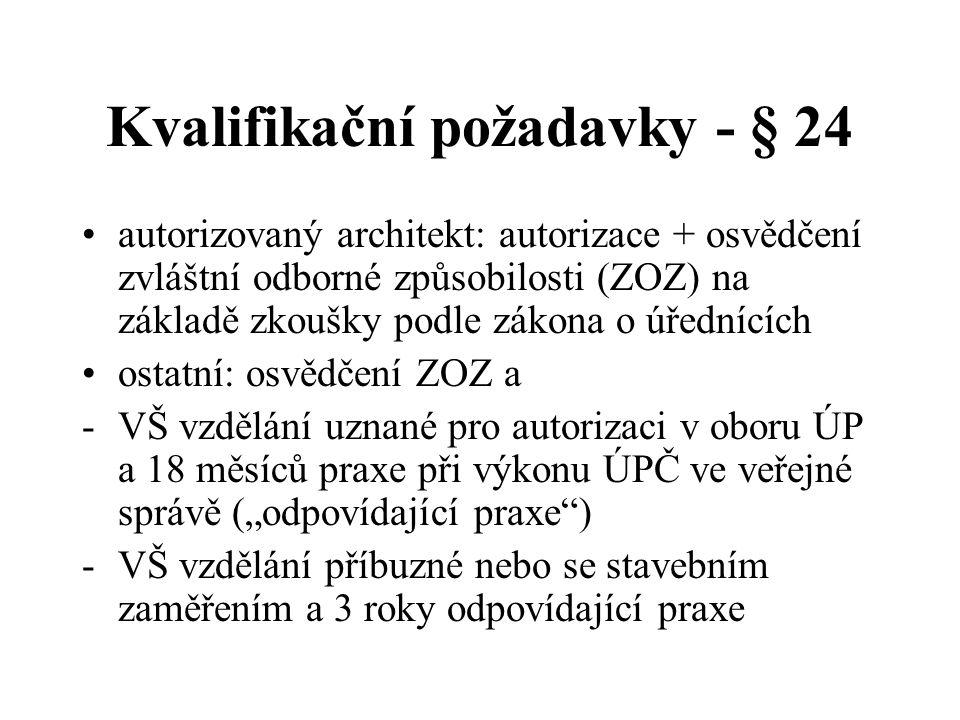 Kvalifikační požadavky - § 24