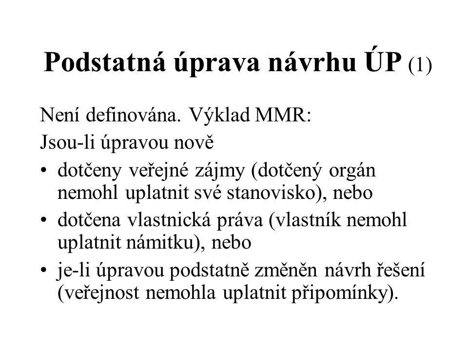 Podstatná úprava návrhu ÚP (1)