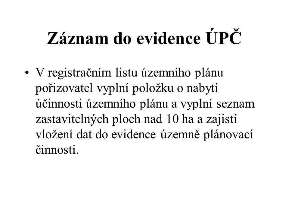 Záznam do evidence ÚPČ