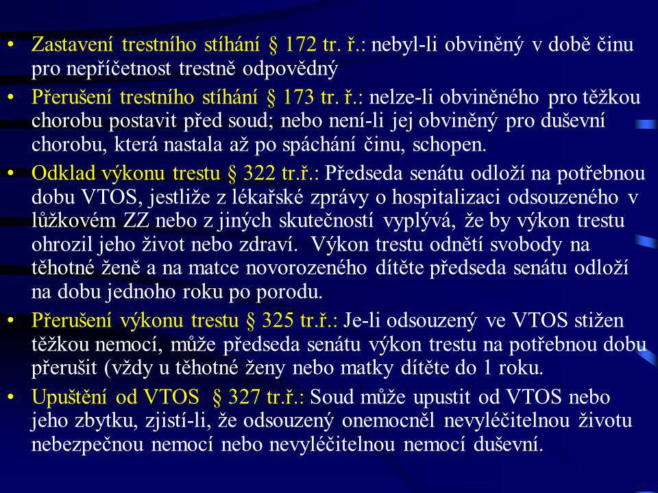 Zastavení trestního stíhání § 172 tr. ř
