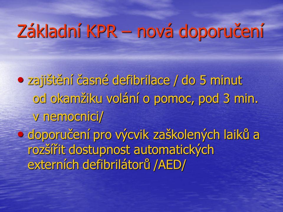 Základní KPR – nová doporučení