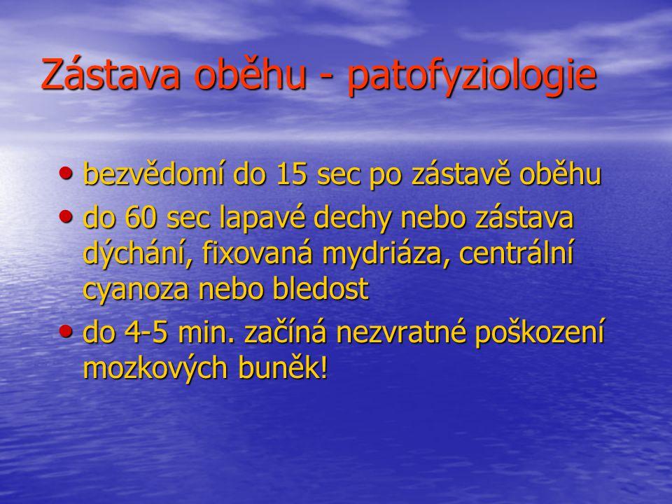 Zástava oběhu - patofyziologie