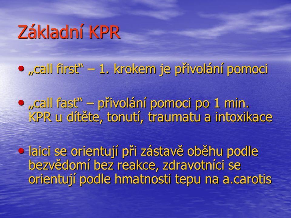 """Základní KPR """"call first – 1. krokem je přivolání pomoci"""