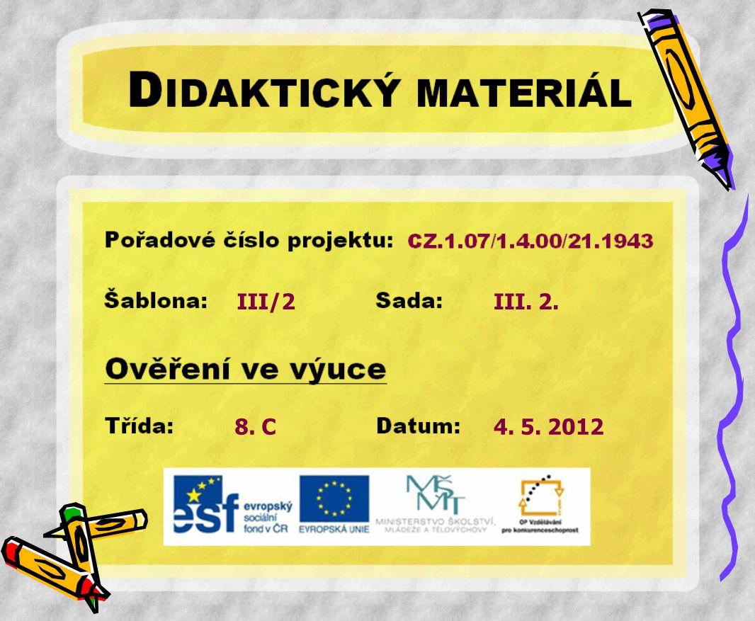 III/2 III. 2. 8. C 4. 5. 2012