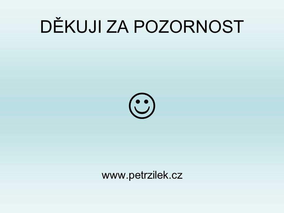 DĚKUJI ZA POZORNOST  www.petrzilek.cz