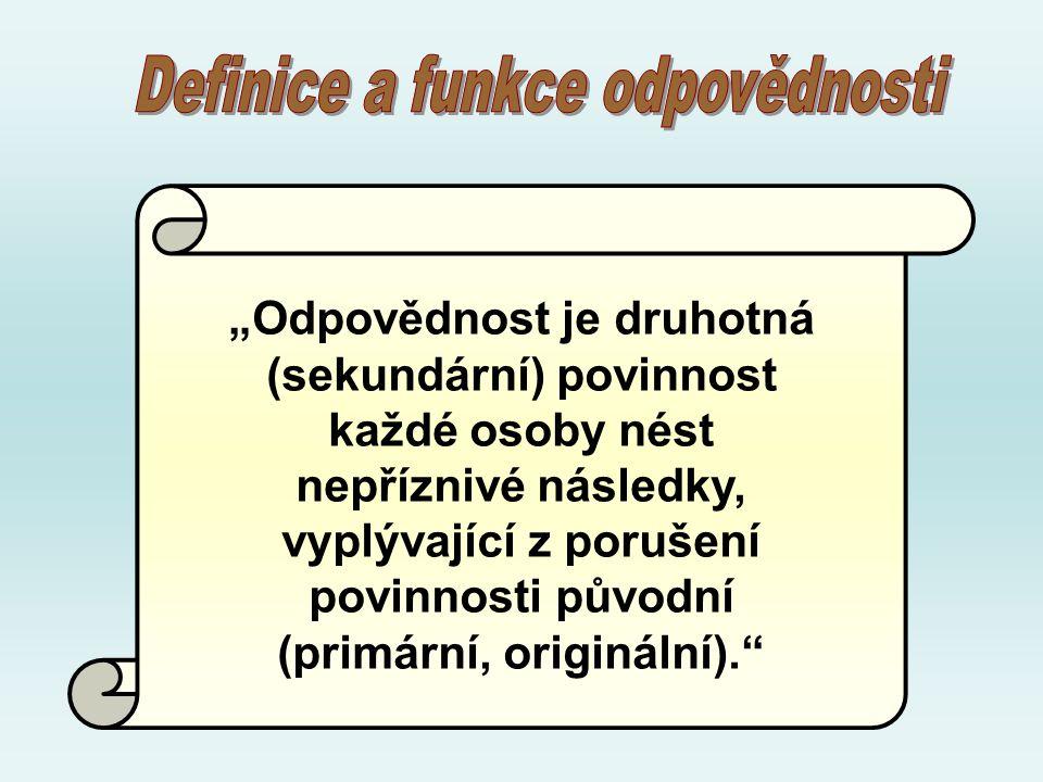 Definice a funkce odpovědnosti