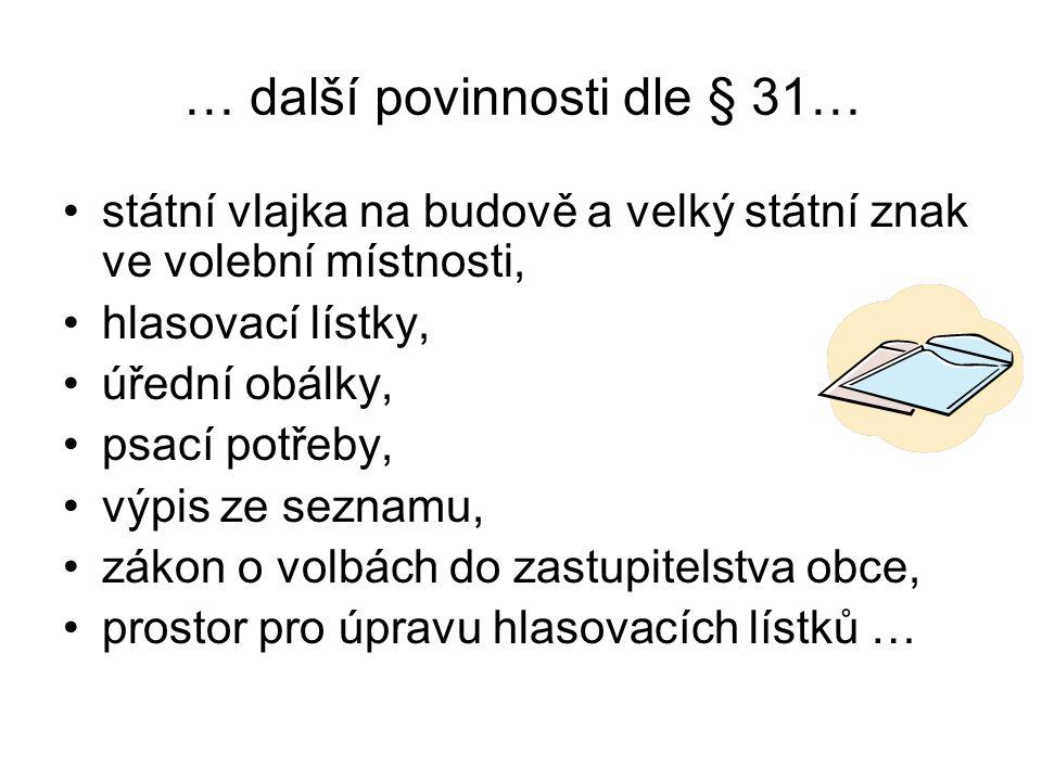 … další povinnosti dle § 31…
