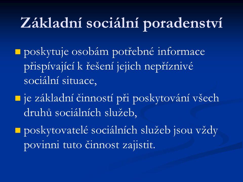 Základní sociální poradenství