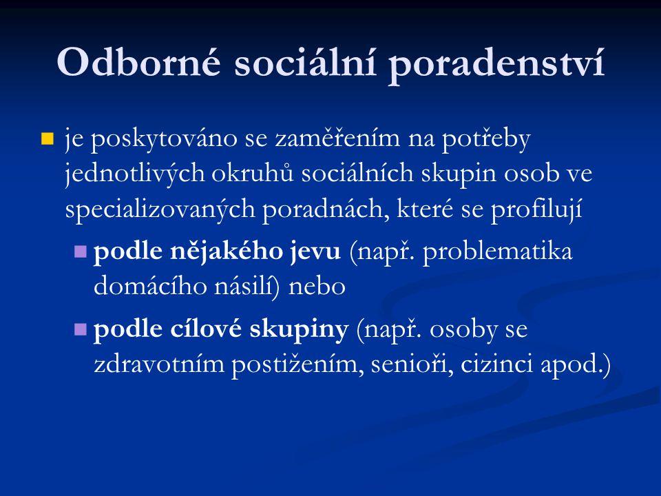 Odborné sociální poradenství