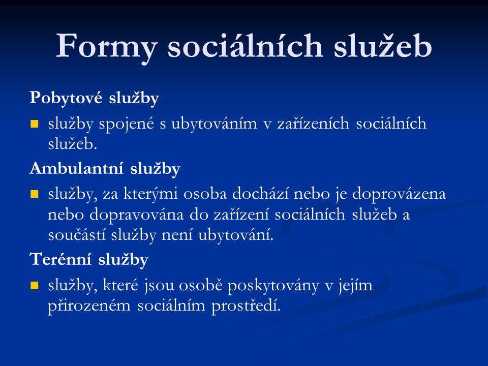 Formy sociálních služeb