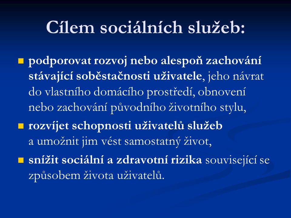 Cílem sociálních služeb:
