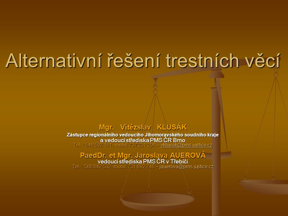 Alternativní řešení trestních věcí