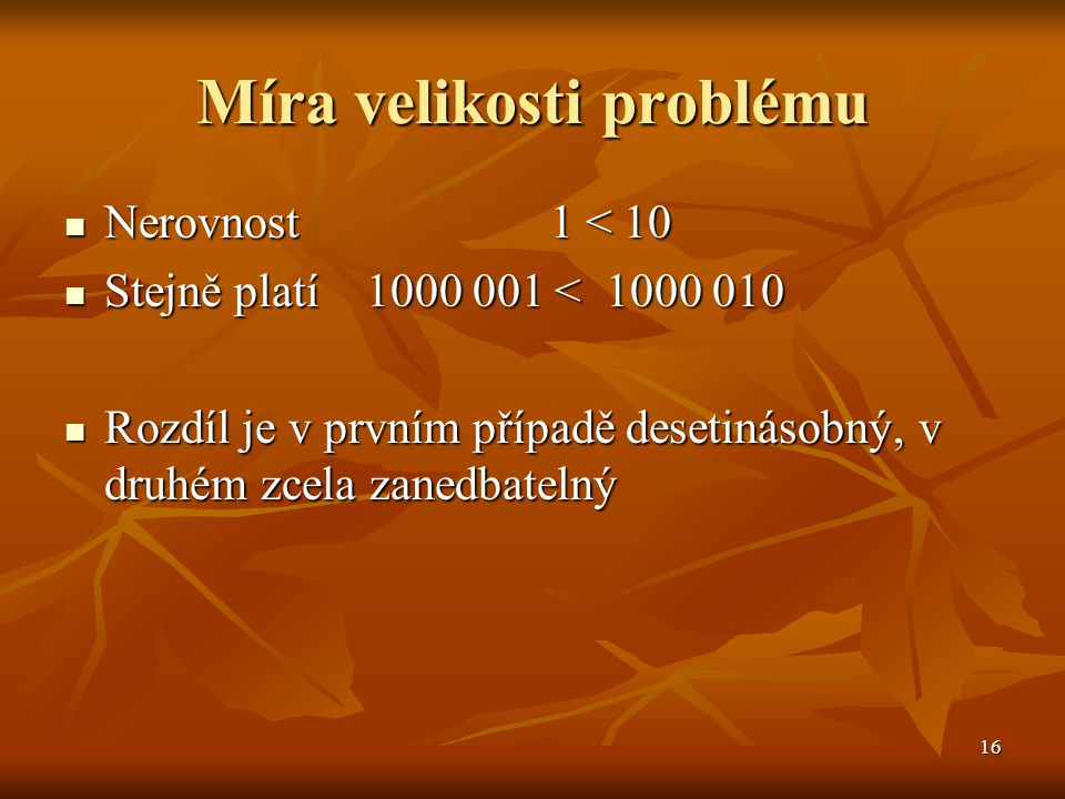 Míra velikosti problému