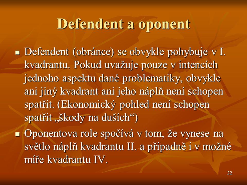 Defendent a oponent