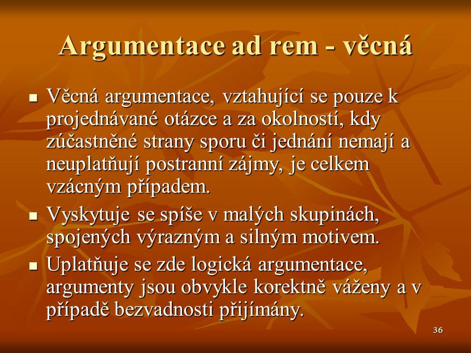 Argumentace ad rem - věcná