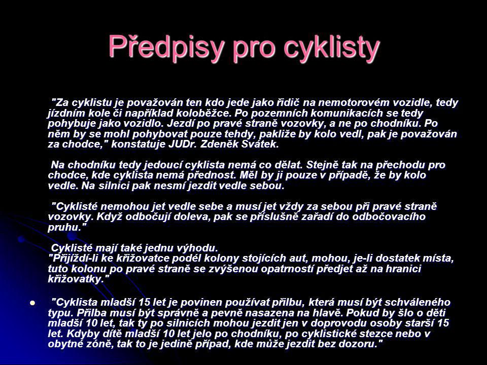 Předpisy pro cyklisty