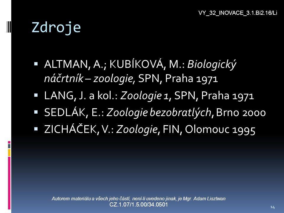 VY_32_INOVACE_3.1.Bi2.16/Li Zdroje. ALTMAN, A.; KUBÍKOVÁ, M.: Biologický náčrtník – zoologie, SPN, Praha 1971.