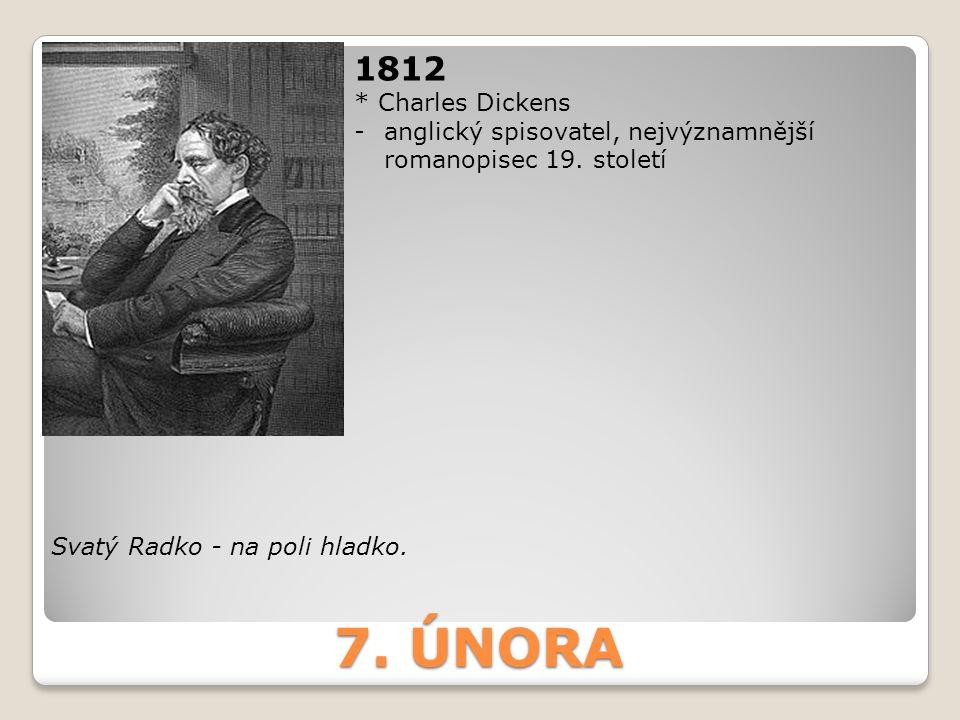 7. ÚNORA 1812 * Charles Dickens