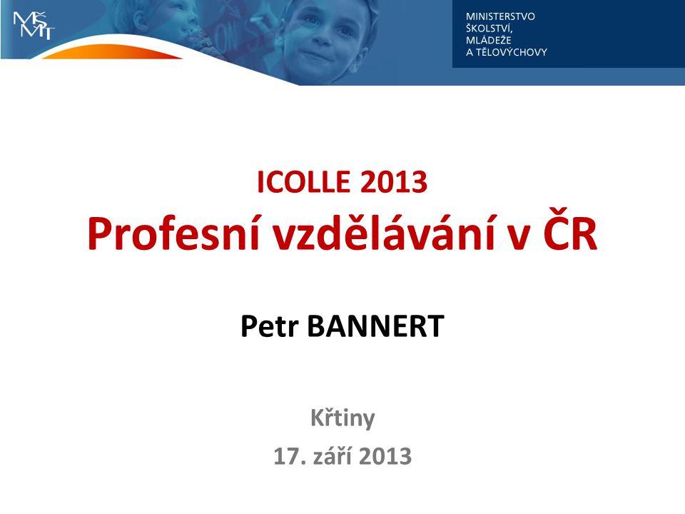 ICOLLE 2013 Profesní vzdělávání v ČR Petr BANNERT