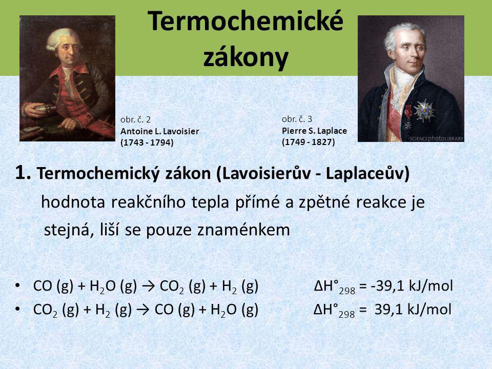 Termochemické zákony 1. Termochemický zákon (Lavoisierův - Laplaceův)