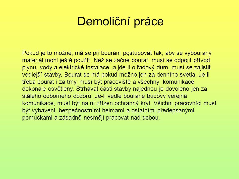 Demoliční práce