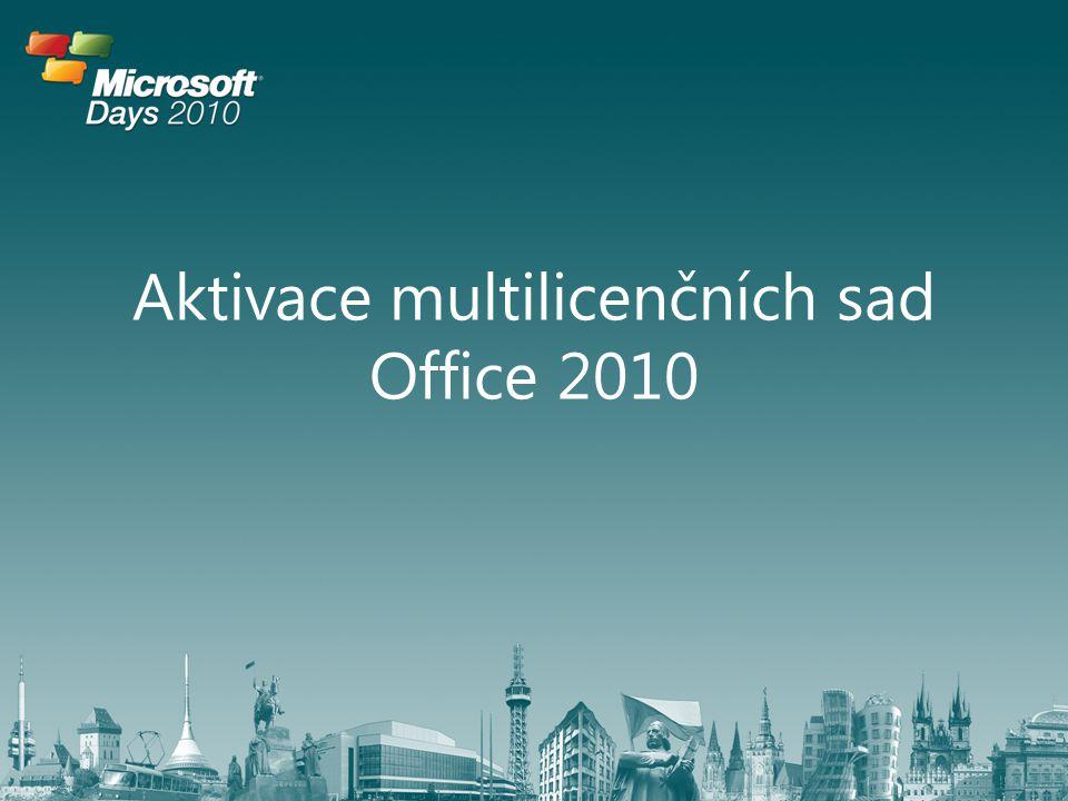 Aktivace multilicenčních sad Office 2010