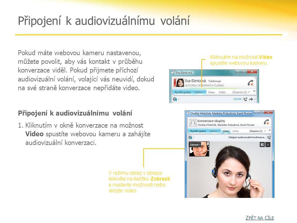 Připojení k audiovizuálnímu volání