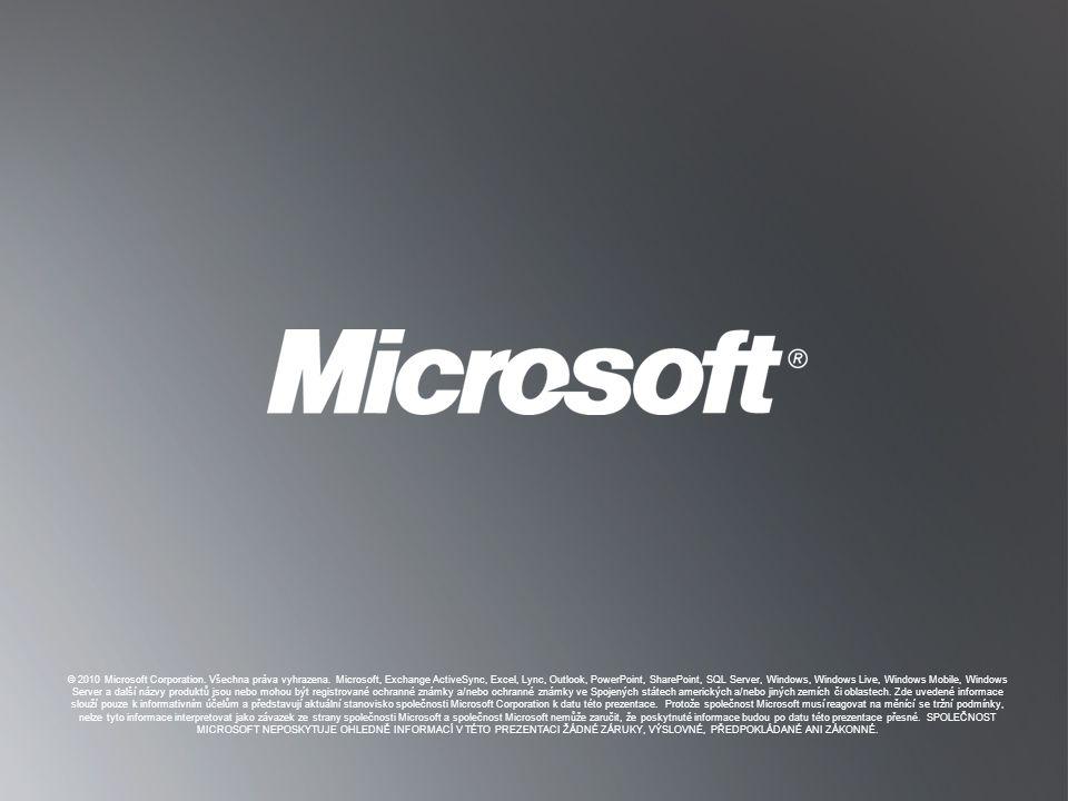 © 2010 Microsoft Corporation. Všechna práva vyhrazena