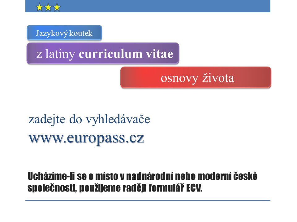 z latiny curriculum vitae