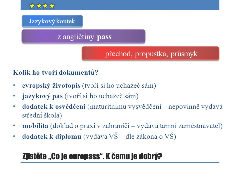 """Zjistěte """"Co je europass . K čemu je dobrý"""
