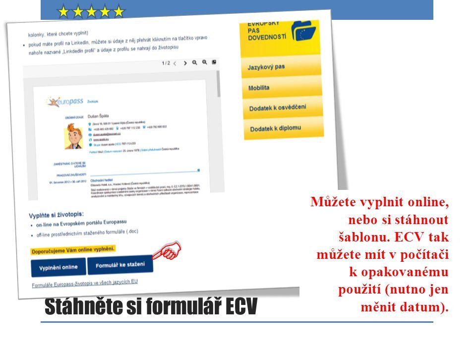 Stáhněte si formulář ECV