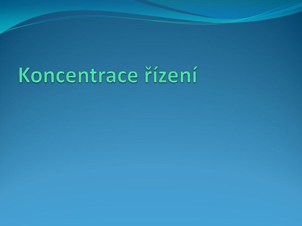 Koncentrace řízení