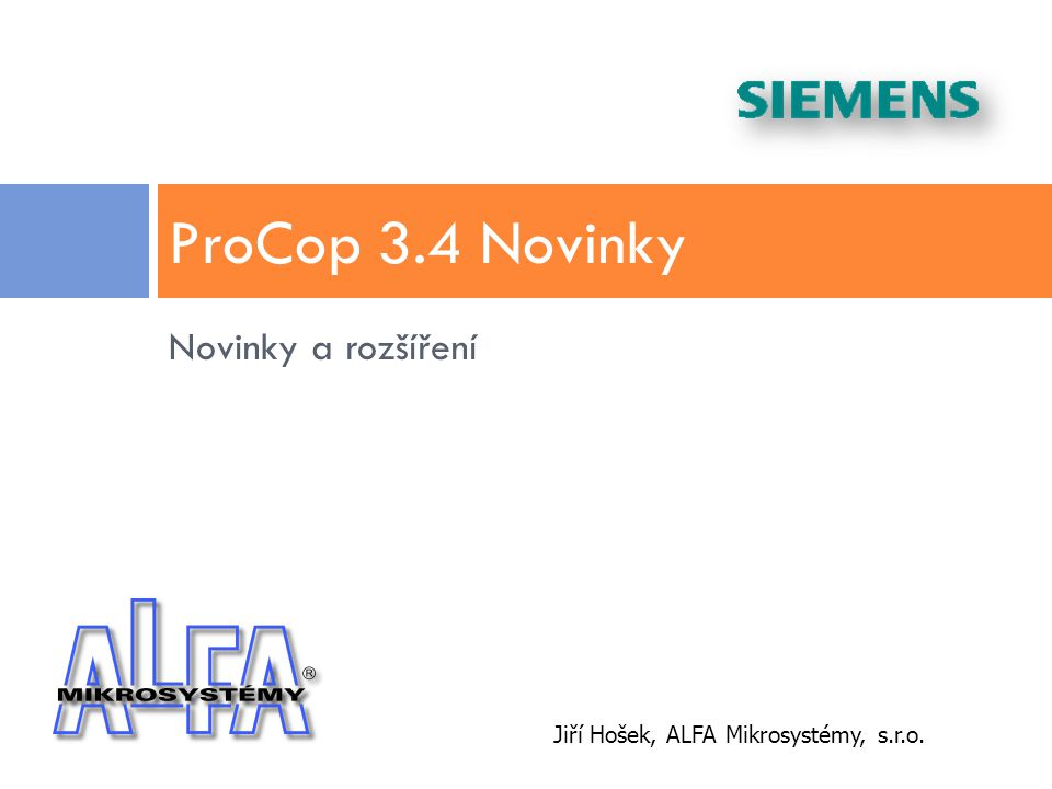 ProCop 3.4 Novinky Novinky a rozšíření