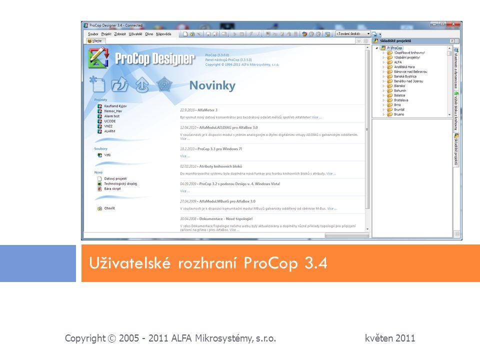 Uživatelské rozhraní ProCop 3.4