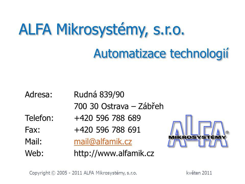 ALFA Mikrosystémy, s.r.o. Automatizace technologií