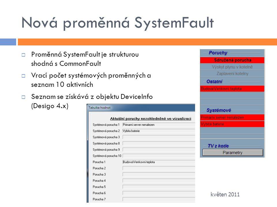 Nová proměnná SystemFault
