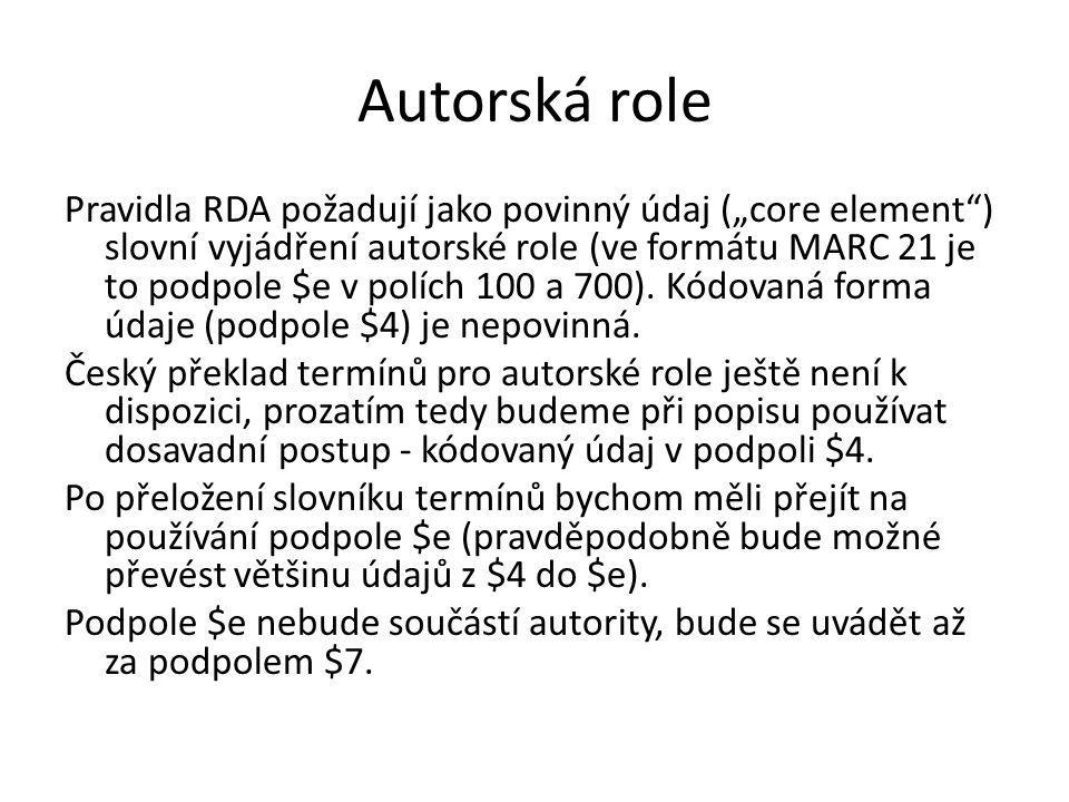 Autorská role