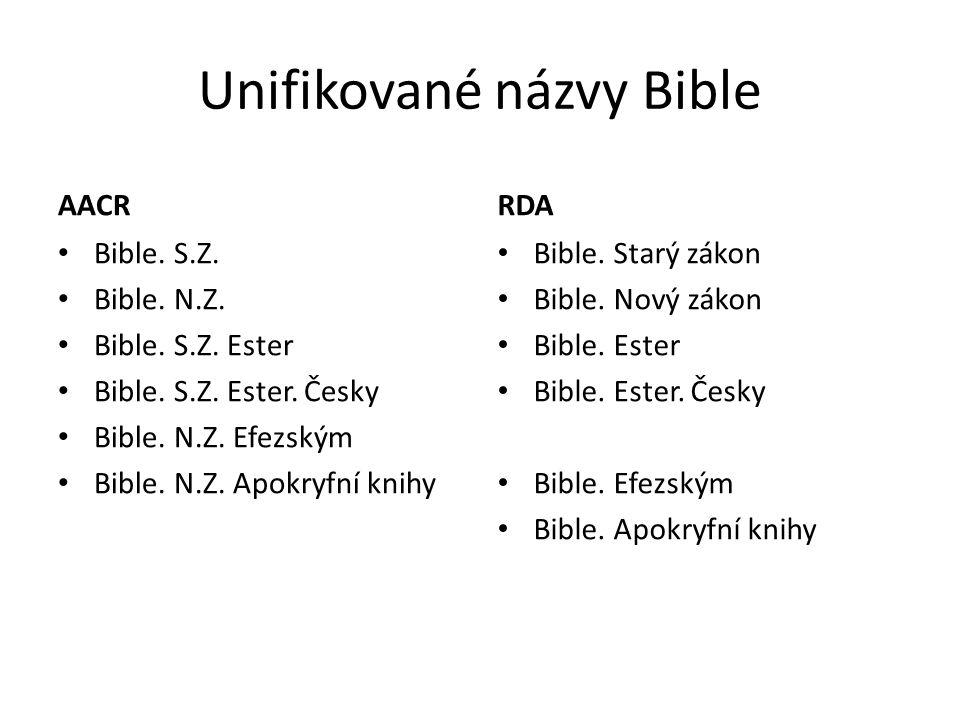 Unifikované názvy Bible