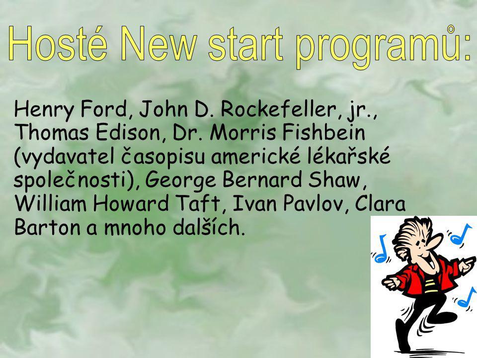 Hosté New start programů: