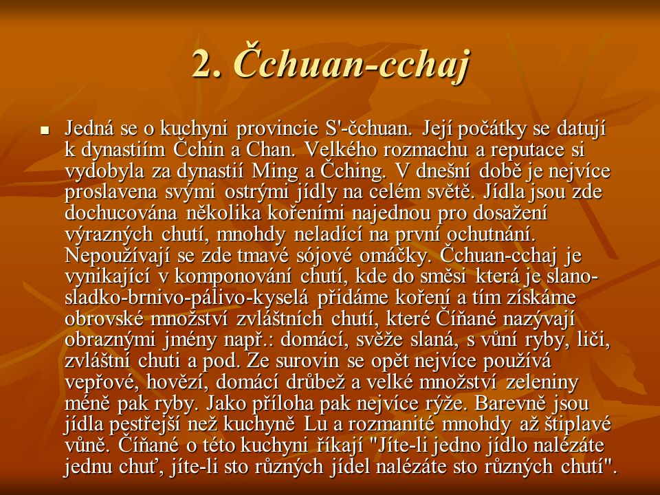 2. Čchuan-cchaj