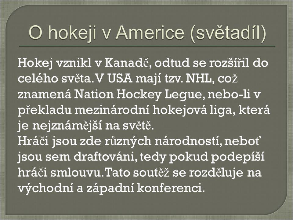 Hokej vznikl v Kanadě, odtud se rozšířil do celého světa