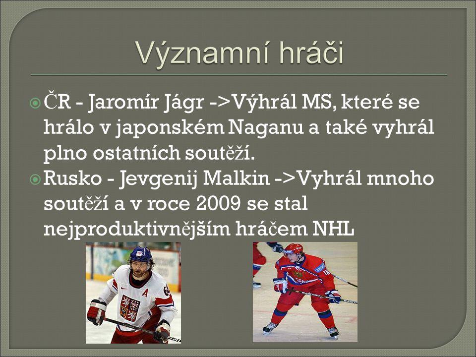 ČR - Jaromír Jágr ->Výhrál MS, které se hrálo v japonském Naganu a také vyhrál plno ostatních soutěží.