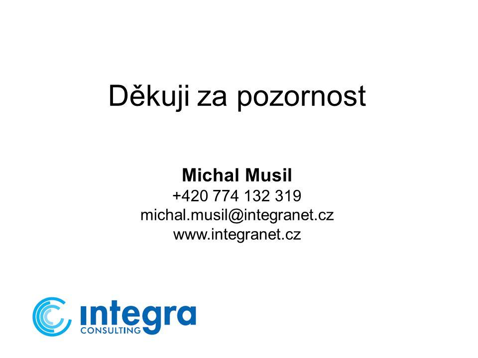 Děkuji za pozornost Michal Musil +420 774 132 319