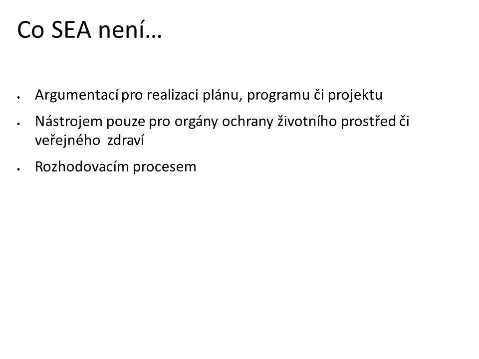 Co SEA není… Argumentací pro realizaci plánu, programu či projektu