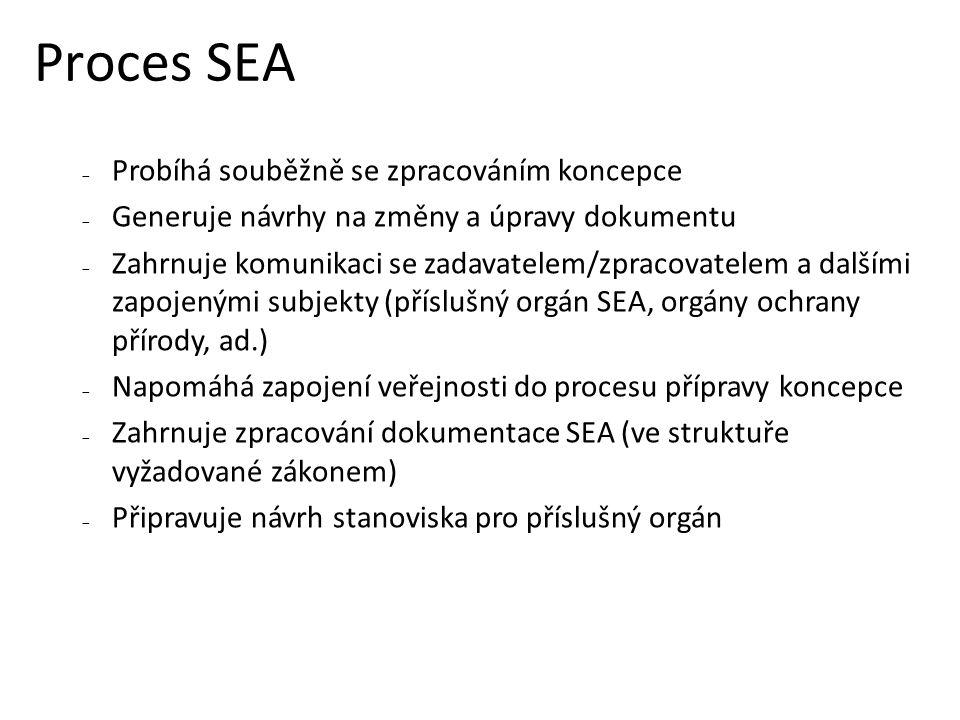 Proces SEA Probíhá souběžně se zpracováním koncepce